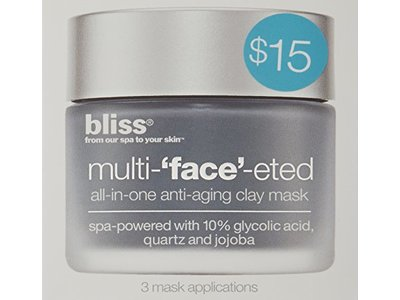bliss Multi-'Face'-eted All-In-One Anti-Aging Clay Mask, 0.8 oz. - Image 4