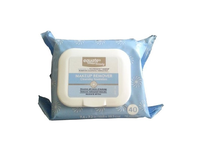 Equate Makeup Remover Cleansing Towelettes, 40 ct