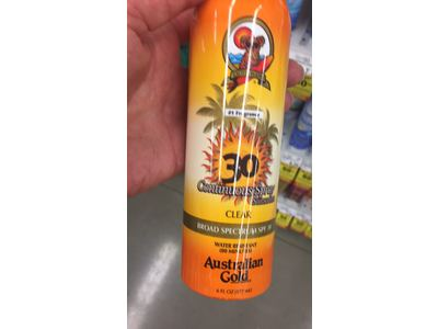 Australian Gold Gold Continuous Spray, SPF 30, Clear 6 oz (Pack of 4) - Image 3