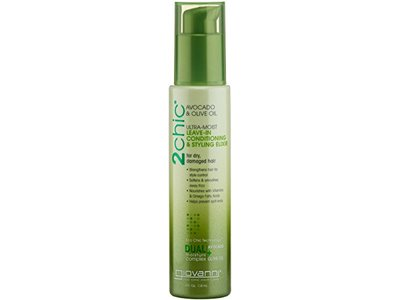Giovanni 2chic Avocado and Olive Oil Ultra-Moist Leave in Conditioning and Styling Elixir, 4 Fluid Ounce