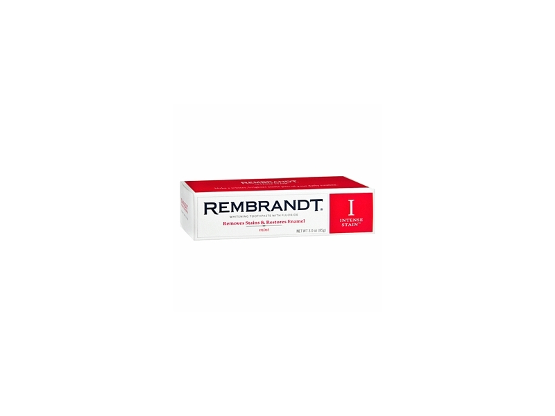 Rembrandt Intense Stain Whitening Toothpaste With Fluoride, Mint, Johnson & Johnson