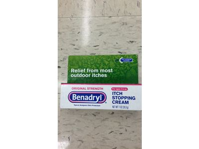 Benadryl Itch Stopping Cream, Original Strength, 1 oz - Image 3
