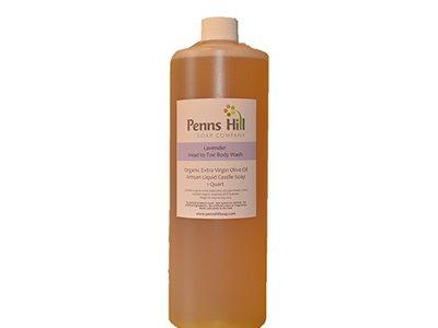 Penns Hill Organic Extra Virgin Olive Liquid Castile Soap, Lavender, 8 fl oz