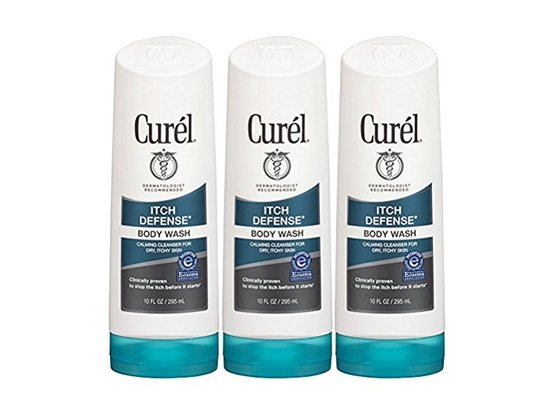 Curel Itch Defense Body Wash, 10 Ounce (Pack of 3)