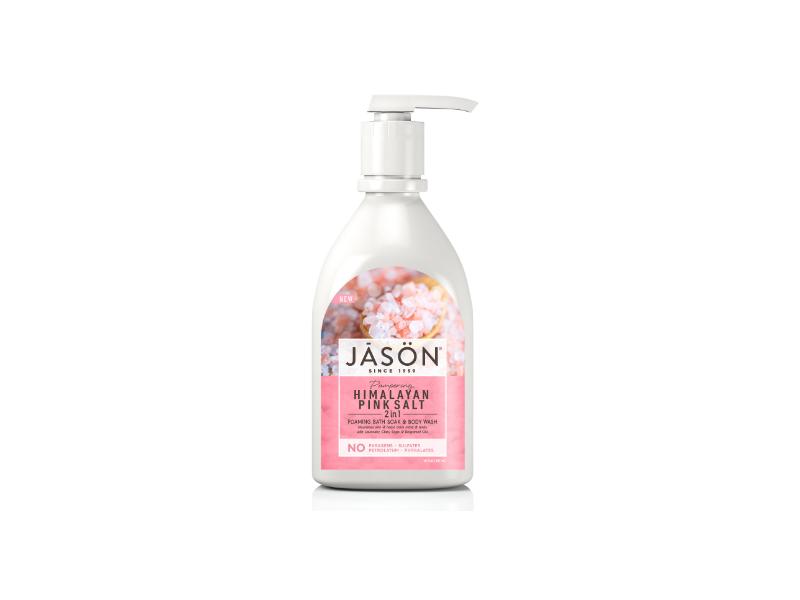 Jason Himalayan Pink Salt 2 In 1 Foaming Bath Soak And Body Wash, 30 fl oz / 887 ml