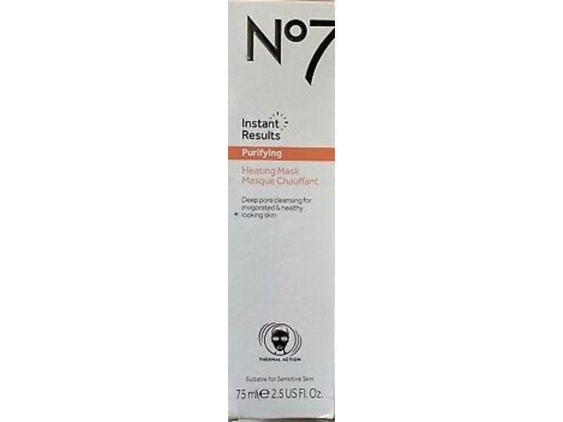 No 7 Instant Results, Revitalising Peel-Off Mask, 2.5 fl oz/75 mL