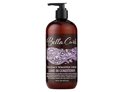 Bella Curls Coconut Whipped Creme Leave-In Conditioner, 16 Fl Oz
