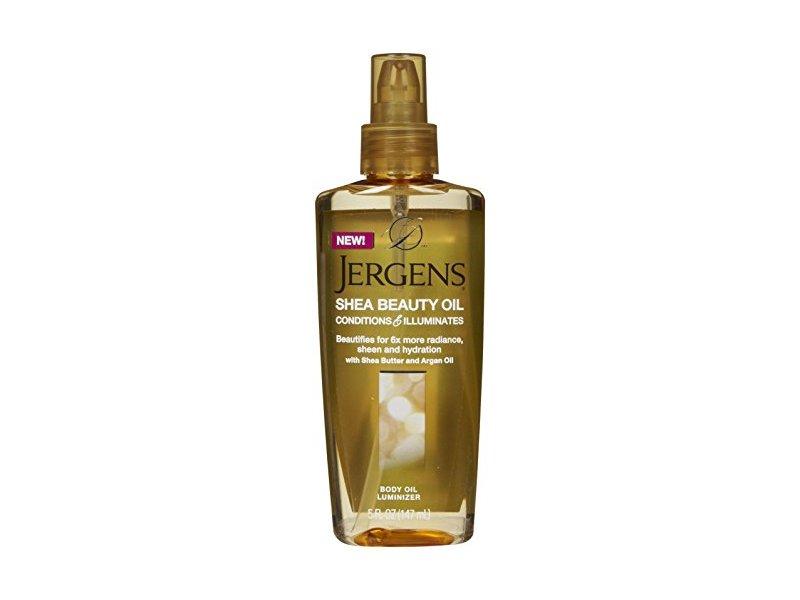 Jergens Shea Beauty Body Oil Luminizer for Unisex, 5 Ounce