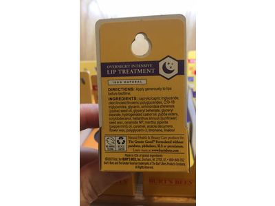Burt's Bees 100% Natural Overnight Intensive Lip Treatment, Ultra-Conditioning Lip Care, 0.25 ounce - Image 10