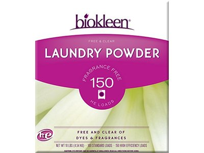 Biokleen Laundry Powder, Free & Clear, 10 Pounds