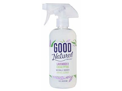 Good Natured Brand Naturally Derived Surface Cleaner Spray, Lavender & Eucalyptus, 16 fl oz / 473 mL
