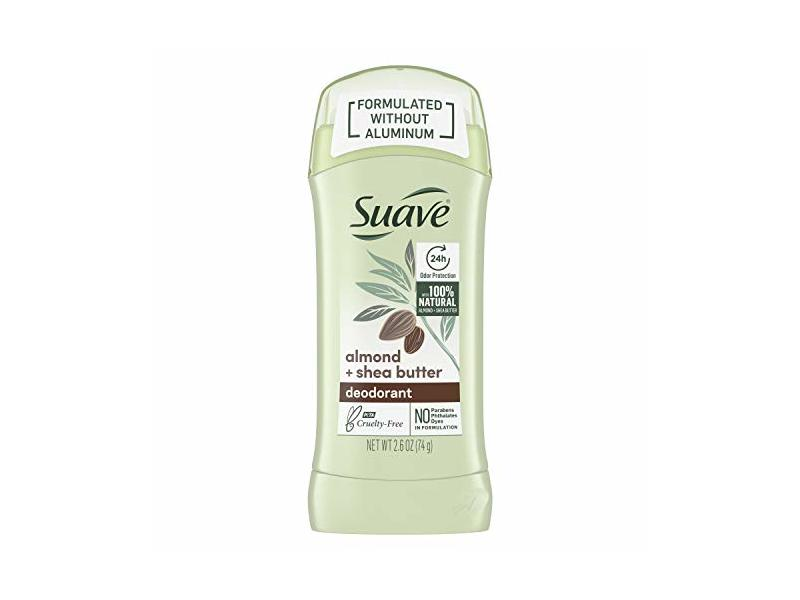 Suave Aluminum-Free Deodorant, Almond & Shea Butter, 2.6 oz (Pack of 2)