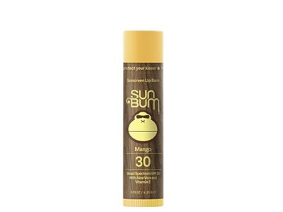 Sun Bum Sunscreen Lip Balm, Mango, SPF 30, .15oz Stick, Lip Sunscreen, Paraben Free