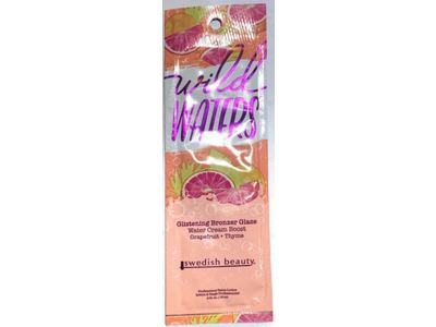 Swedish Beauty Wild Waters Glistening Bronzer Glaze Water Cream Boost, Grapefruit + Thyme, 0.6 fl oz