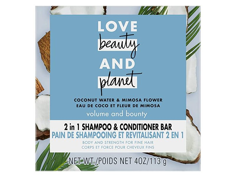Love Beauty and Planet Coconut Water Shampoo + Conditioner Bar, 4 oz