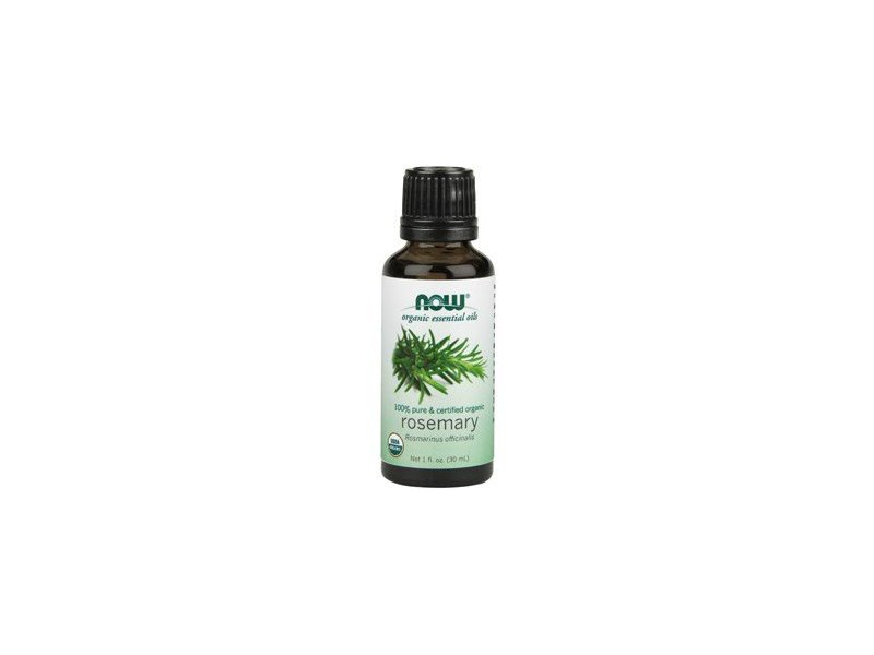 NOW Foods 100% Pure & Certified Organic Rosemary Oil, 1 fl oz