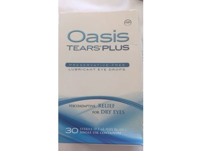 Oasis TEARS Lubricant Eye Drops, One 30 Count Box Sterile Disposable Containers, 0.3ml/0.01 fl oz - Image 4