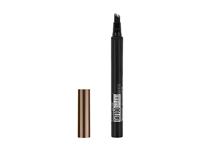 Maybelline TattooStudio Brow Tint Pen Makeup, Medium Brown, 0.037 fl. oz.