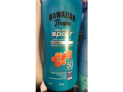 Hawaiian Tropic Island Sport Lotion Sunscreen Spf 50 240