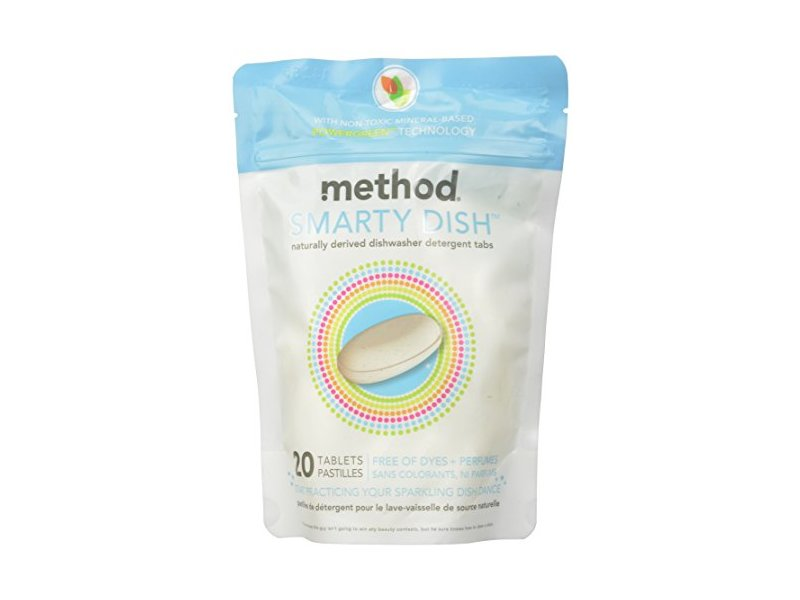 Method Smarty Dish Dishwasher Tablets, Free & Clear, 20 Count