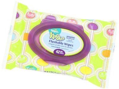 Pampers Kandoo Flushable Wipes, Sensitive, Soft Tub, 24 Count - Image 5