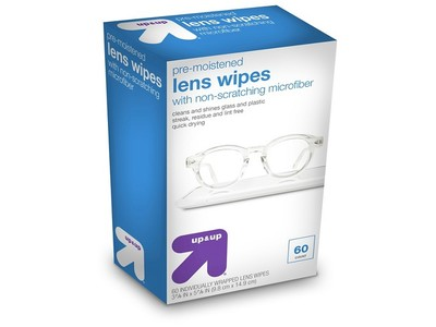 Up & Up Pre-Moistened Lens Wipes, 60 ct