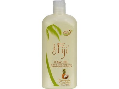 Organic Fiji Organic Coconut Oil Pineapple Coconut Oil, 12 OZ