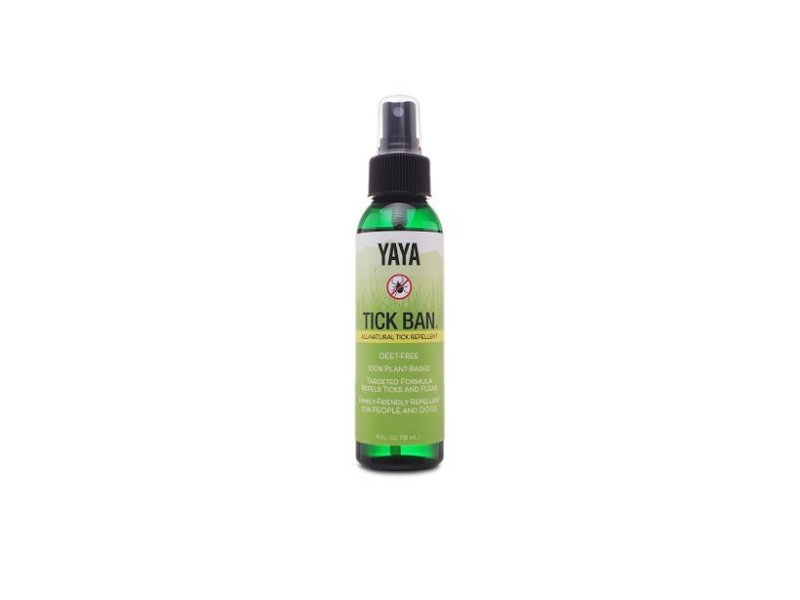 TICK BAN Yaya Organics All Natural 4 Ounce Spray Bottle