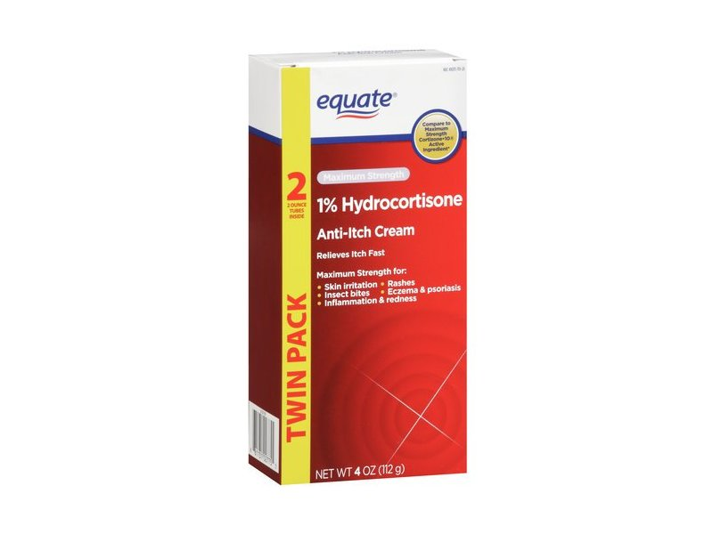 Equate1% Hydrocortisone Anti-itch Cream, 4 oz