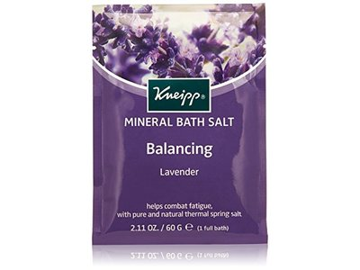 Kneipp Mineral Bath Salt, Relaxing, Lavender, 2.1 oz/60 g