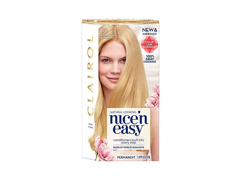 Clairol Nice' n Easy Hair Color, #10 Extra Light Blonde, 1 ct (Pack of 2)