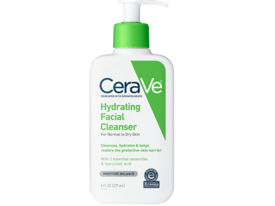 CeraVe Hydrating Facial Cleanser, 8 fl oz - Image 1