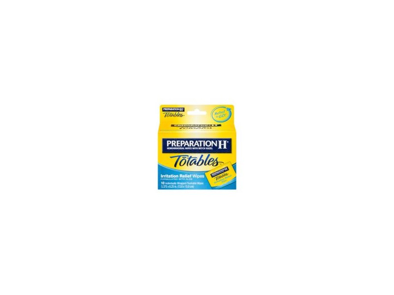 Preparation H Totables Irritation Relief Wipes - 10 Ct