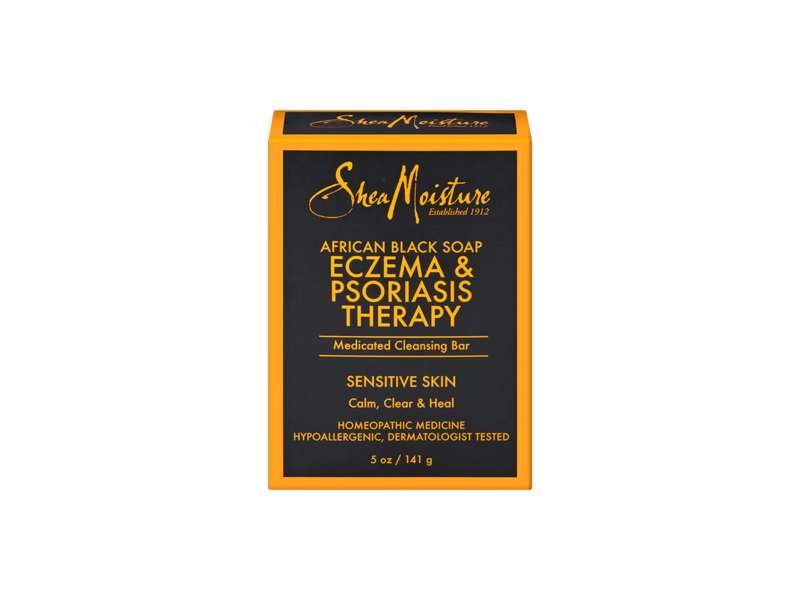 SheaMoisture African Black Soap Eczema Psoriasis Medicated Cleanser for Sensitive Skin, 12 oz