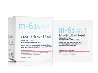 m-61 PowerGlow Peel Exfoliating Facial Peel, 3 treatments