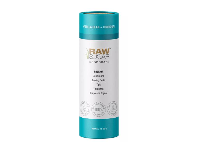 Raw Sugar Deodorant, Vanilla Bean + Charcoal, 2 oz/56 g