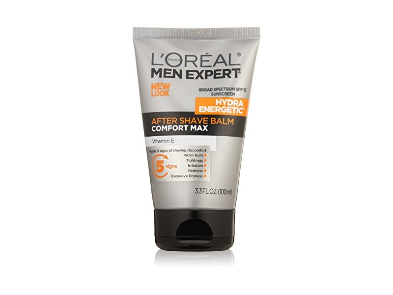 L'Oreal Paris Skin Care Men Expert Hydra Energetic Comfort Max After Shave Balm SPF 15, 3.3 Fluid Ounce