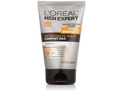 L'Oreal Paris Skin Care Men Expert Hydra Energetic Comfort Max After Shave Balm SPF 15, 3.3 Fluid Ounce - Image 1