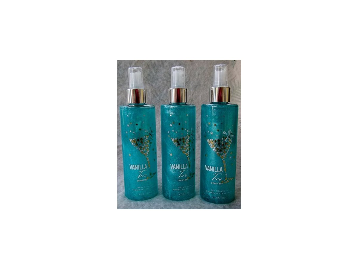 Bath body works vanilla tini shimmer mist 8 fl oz for Where are bath and body works products made