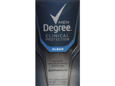 Degree Men Clinical Protection Antiperspirant, Clean, 1.7 oz/48 g