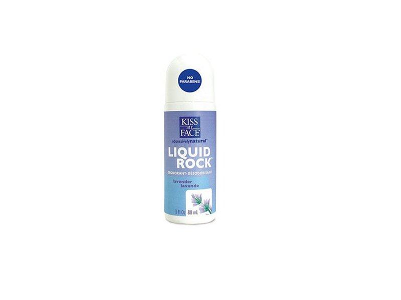 Kiss My Face Liquid Rock Roll On Deodorant, Lavender, 3 fl oz