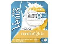 Gillette Venus ComfortGlide with Olay Women's Razor Refills, 4 Count - Image 2