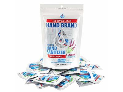 HSI Professional Single Use Hand Sanitizer Packet, 48 count