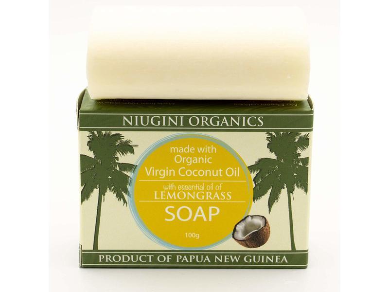 Niugini Organics Lemongrass Soap, 100 g