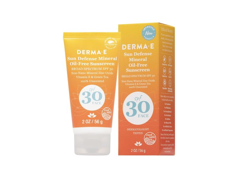 Derma E Antioxidant Natural Sunscreen SPF 30 Face Lotion, 2 fl oz