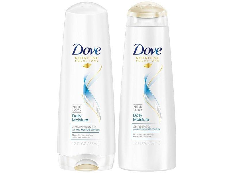 Dove Daily Moisture Shampoo & Conditioner, 12 fl oz/355 ml