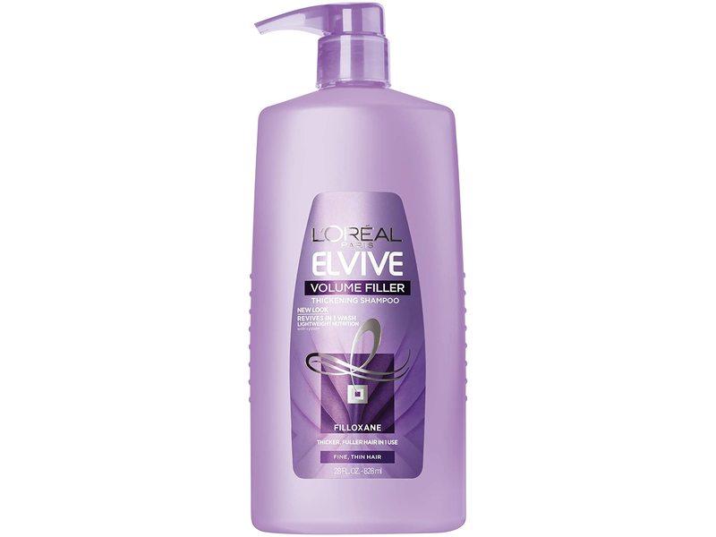 L'Oreal Paris Elvive Volume Filler Thickening Shampoo, 28 fl oz/828 ml