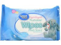 Great Value Hypoallergenic Flushable Wipes, 42 ct - Image 2