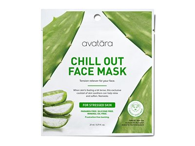 Avatara Chill Out Face Sheet Mask for Stressed Skin, 0.71 Fluid Ounce