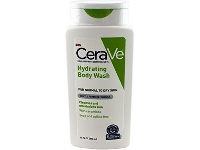CeraVe Hydrating Body Wash with Sample of Healing Ointment